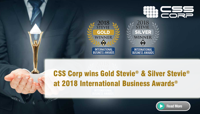 CSS Corp wins Gold Stevie & Silver Stevie at 2018 International Business Awards